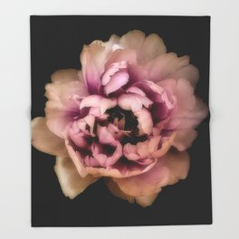 Lush Peony, Nobility And Honour Throw Blanket
