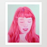 bubblegum Art Prints featuring bubblegum by Jen Mann