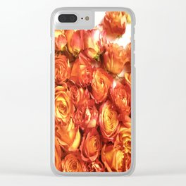 Cluster Of Orange Roses Clear iPhone Case