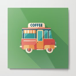 Coffee Van Metal Print