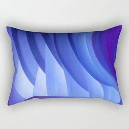 Walking Through Blue Rectangular Pillow