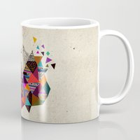 kris tate Mugs featuring The Night Playground by Peter Striffolino and Kris Tate by Kris Tate