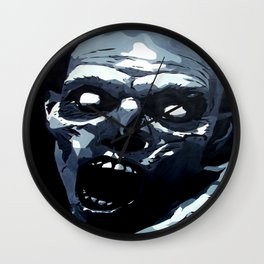 Hungry Zombie- Abstract Zombie Painting Wall Clock