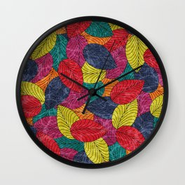 Let the Leaves Fall #02 Wall Clock