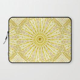 SUN WORSHIP Yellow Mandala Laptop Sleeve