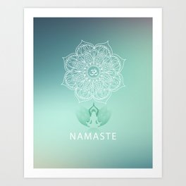 Namaste 2 Art Print