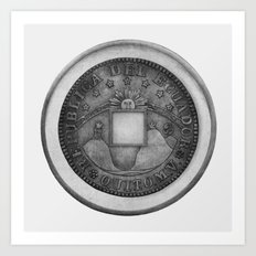 Moby Coin Art Print
