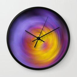 Meditation - Abstract Energy Art By Sharon Cummings Wall Clock