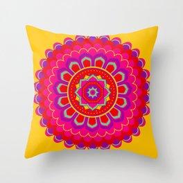 Masala Mandala Throw Pillow