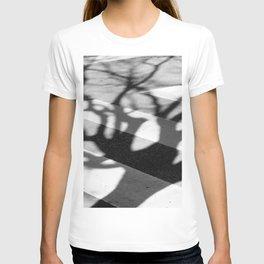 zebra crossing, tree shadow T-shirt