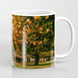 Digital Painting of Autumn in King's Garden in front of Rosenborg Castle of Copenhagen, Denmark Coffee Mug