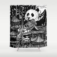 china Shower Curtains featuring China by Matt Ferguson