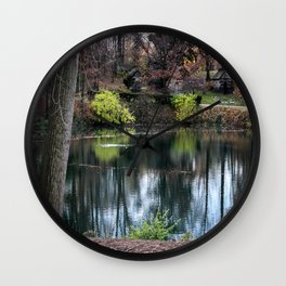 Cemetery Reflections Wall Clock