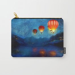 Hot Air Ballooning on a Starry Night Carry-All Pouch