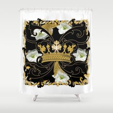 My Empire Collection Summer Set White Flowers Crown Shower Curtain