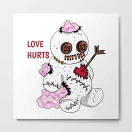 love hurts voodoo doll Divorce Break Up Metal Print