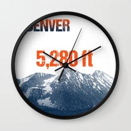Cities Of America: Denver Wall Clock