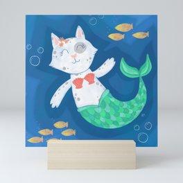 Mermaid Cat Mini Art Print