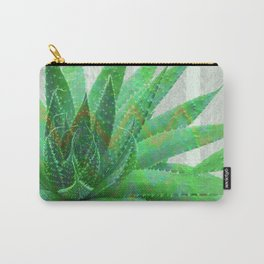 Painted Aloe Plant Serenity in Green Carry-All Pouch