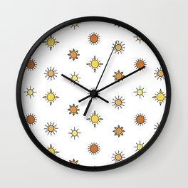 Sun pattern Wall Clock