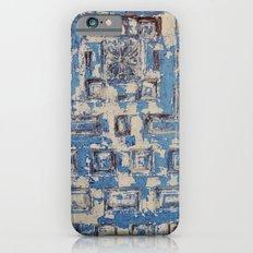 Blue Patterned Door iPhone 6s Slim Case