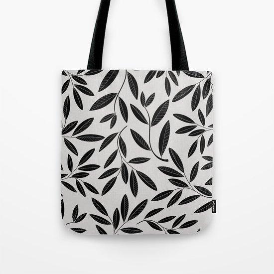 Black & White Plant Leaves Pattern by alisagal