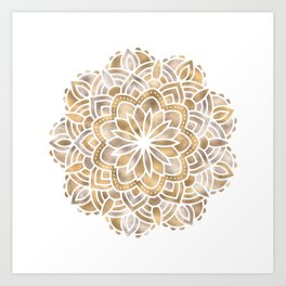Mandala Multi Metallic in Gold Silver Bronze Copper Art Print