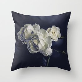 Floral lines. Throw Pillow