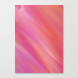 soft pink and orange colorful abstract Canvas Print