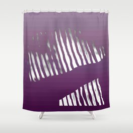 Purple Zebra Shower Curtain