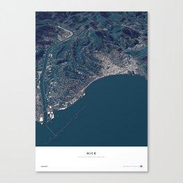 Nice - City Map Canvas Print