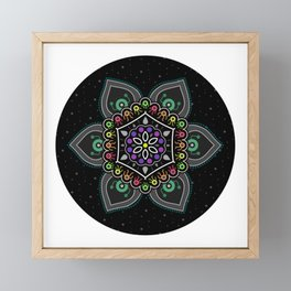Alien Dudes and Dudettes Mandala Framed Mini Art Print