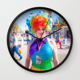 Proud Pinkie Wall Clock
