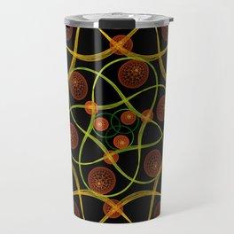 Spiral Round Black Travel Mug