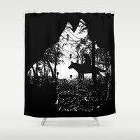 princess mononoke Shower Curtains featuring Mononoke Forest by kamonkey