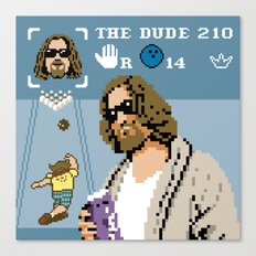 The Big Lebowski - The Dude Abides Canvas Print