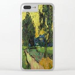 Vincent Van Gogh : Landscape at Twilight Clear iPhone Case