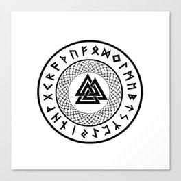 Valknut - Wotans Knot - Odin Rune Canvas Print