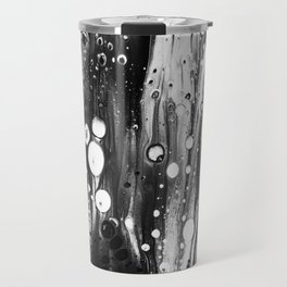 Blck White Lava Lamp Flow Travel Mug