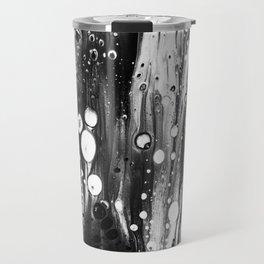 Blck White Lava Lamp Flow Travel Mug