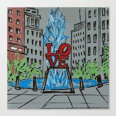 Little Love Park Sketch Canvas Print