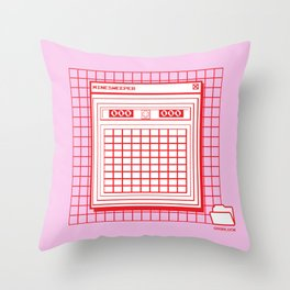 Minesweeper Throw Pillow
