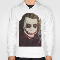 joker Hoodies featuring joker by DeMoose_Art
