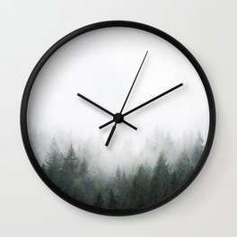 PNW Forest Mountain Adventure IV  Wall Clock