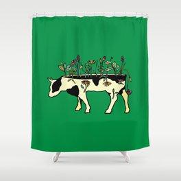 Cow Me Vegan Shower Curtain