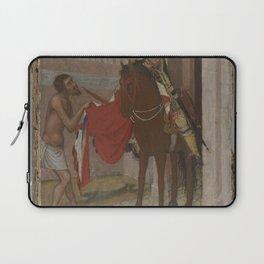 Ambrogio Lorenzetti - Saint Martin of Tours Dividing His Cloak with a Beggar Laptop Sleeve