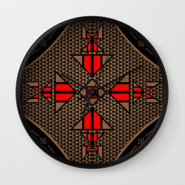 buffalo gathering Red Wall Clock