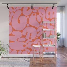 millennial pink blobs Wall Mural