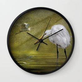 Everglades Evening Wall Clock