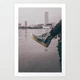kicks overseas Art Print